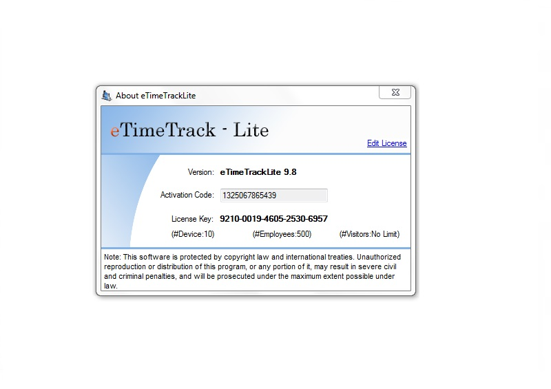 Essl Etimetracklite License Key